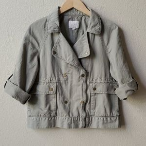 LOFT Light olive green boxy utility jacket sz S